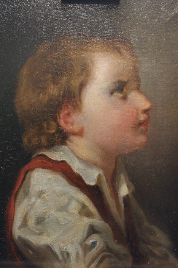 Portrait d'enfant, après restauration